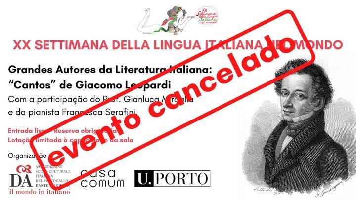 Grandes Autores da Literatura Italiana: Giacomo Leopardi: 'Cantos'