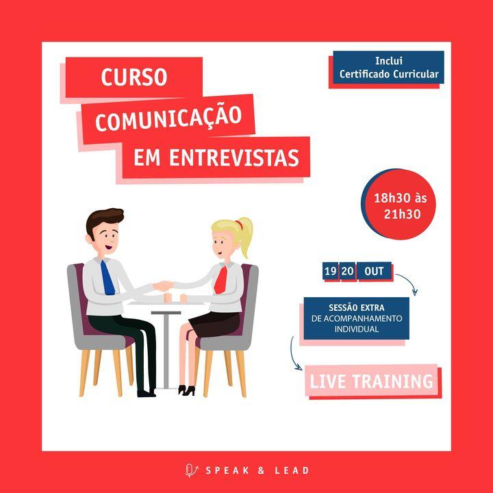 Curso de Comunicação em Entrevistas – Live Training (online) – 19 e 20 Outubro