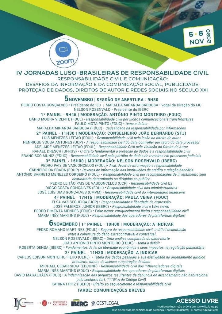 IV JORNADAS LUSO-BRASILEIRAS DE RESPONSABILIDADE CIVIL