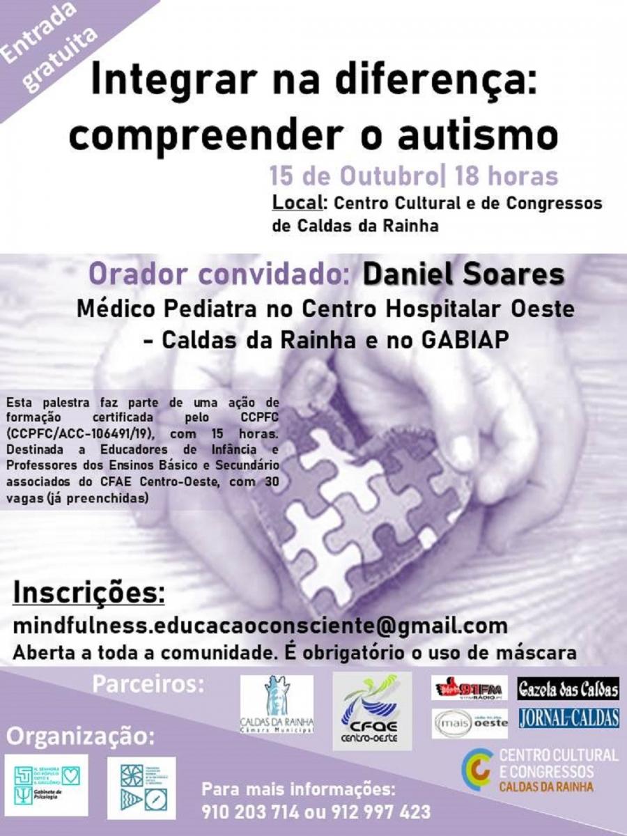 Palestra 'Integrar na diferença: compreender o autismo'