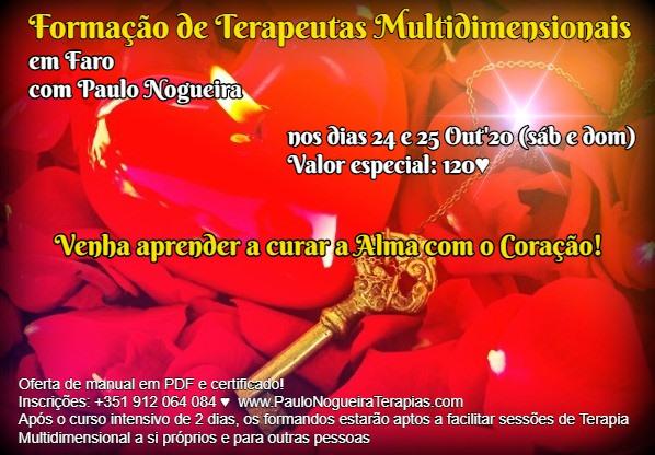 Curso de Terapia Multidimensional em Faro - Out'20