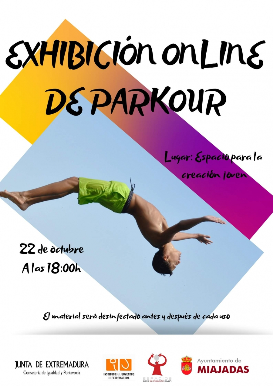 Exhibición online de Parkour
