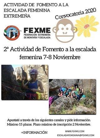 2ª ACTIVIDAD FOMENTO A LA ESCALADA FEMENINA (SIERRA CASTELLAR)