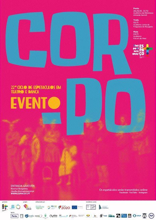 XXII Corpo Evento - Ciclo de Espetáculos em Teatro e Dança