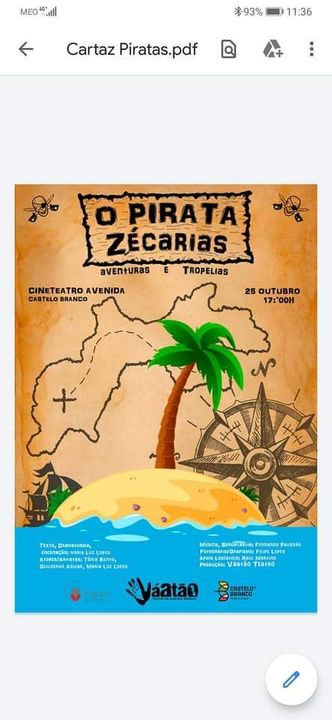'O Pirata Zécarias' Aventuras e Tropelias