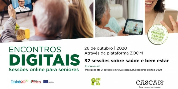 """1ª edição dos """"Encontros Digitais"""" - Sessões online para seniores"""