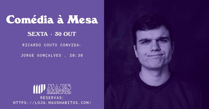 Comédia à Mesa: Ricardo Couto convita Jorge Gonçalves