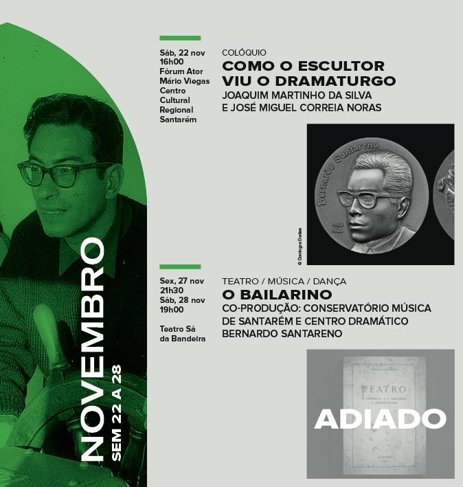 O Bailarino - cr.cénica a partir da obra de B.Santareno - Adiado