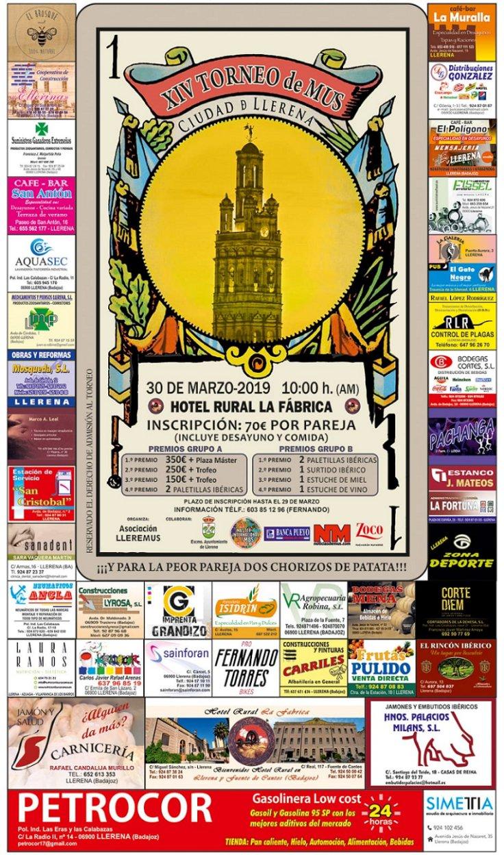 XIV Torneo de Mus Ciudad de Llerena