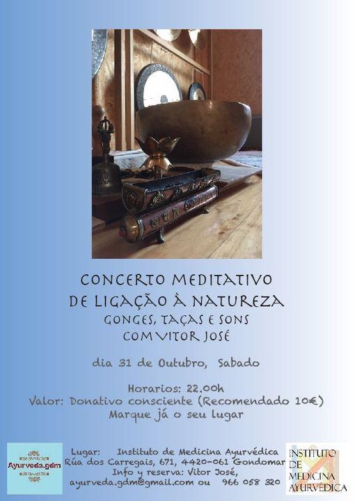 Concerto Meditativo de ligação á terra - Voz, Gongs,sons