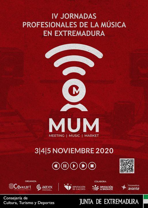 IV Jornadas Profesionales de la Música en Extremadura. MUM 2020