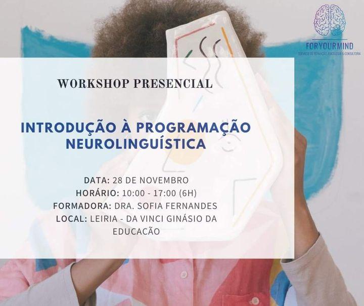Introdução à Programação Neurolinguística | Workshop Presencial
