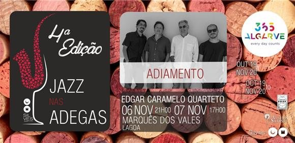 Jazz nas Adegas com Edgar Caramelo Quarteto