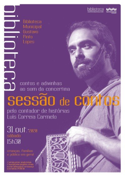 Sessão de Contos com Luís Carmelo