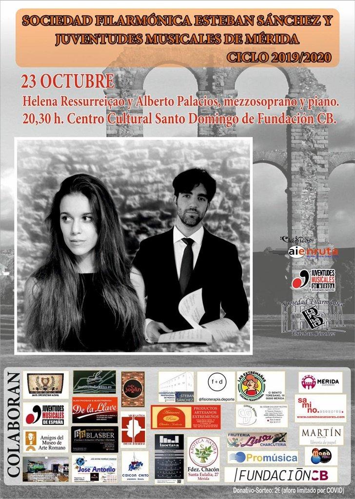 Concierto de Helena Ressurreiçao (Mezzosoprano) y Alberto Palacios (Piano)