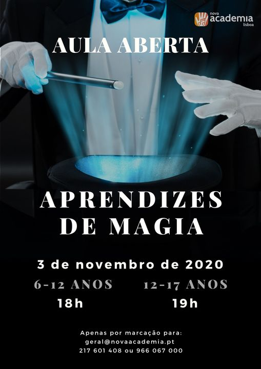 Aula aberta: aprendizes de magia