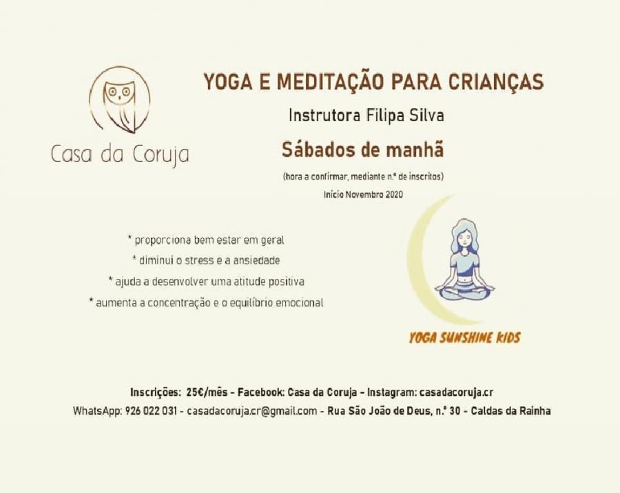 YOGA E MEDITAÇÃO PARA CRIANÇAS (3-12)