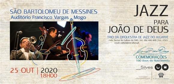 Concerto JAZZ PARA JOÃO DE DEUS com Trio da Orquestra de Jazz do Algarve