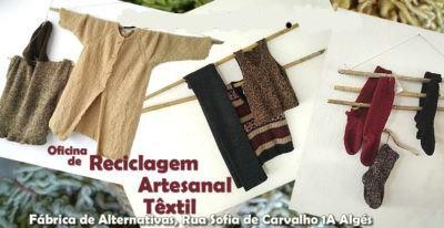 Oficina de Reciclagem artesanal têxtil