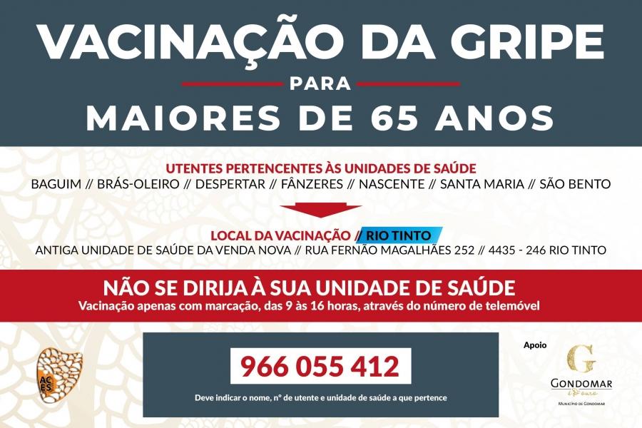 Vacinação da Gripe para maiores de 65 anos, em Rio Tinto