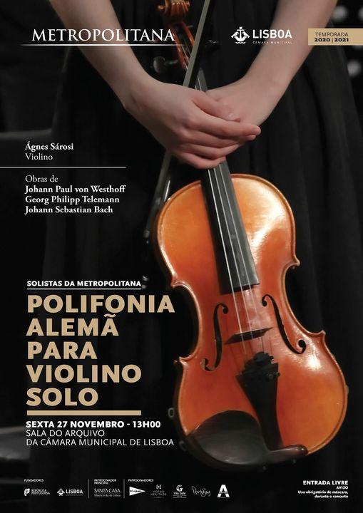 Polifonia Alemã para Violino Solo - Solistas da Metropolitana