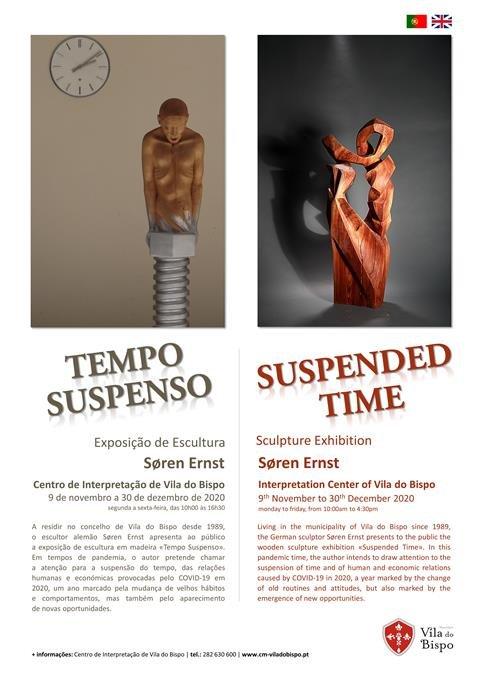"""Exposição de Escultura """"Tempo Suspenso"""" no Centro de Interpretação de Vila do Bispo"""