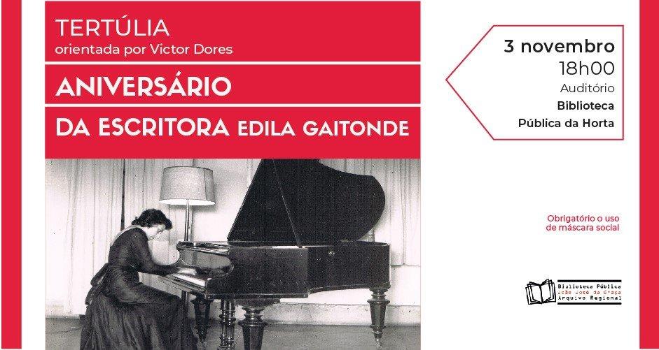 Tertúlia para celebrar Aniversário da escritora Edila Gaitonde