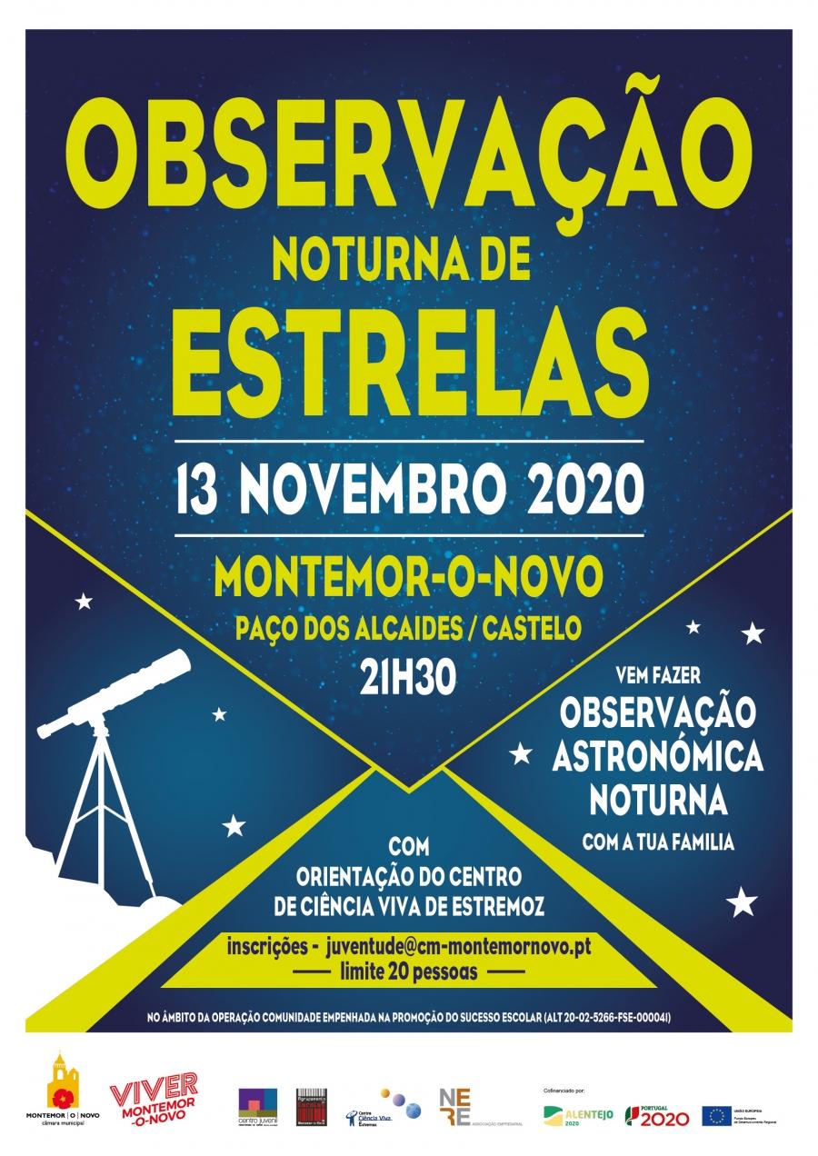 Observação Noturna de Estrelas em Montemor-o-Novo