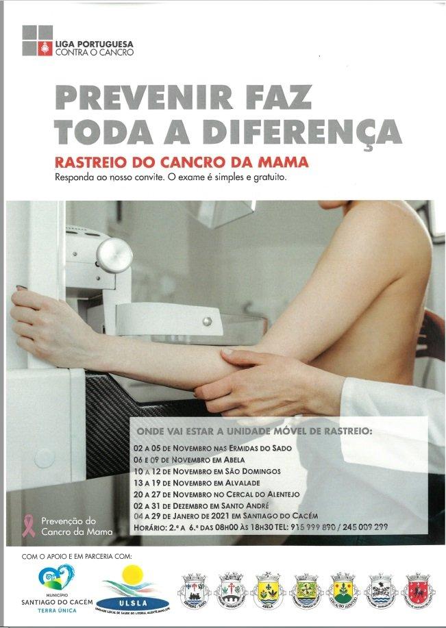 Rastreio do Cancro da Mama no Concelho de Santiago do Cacém