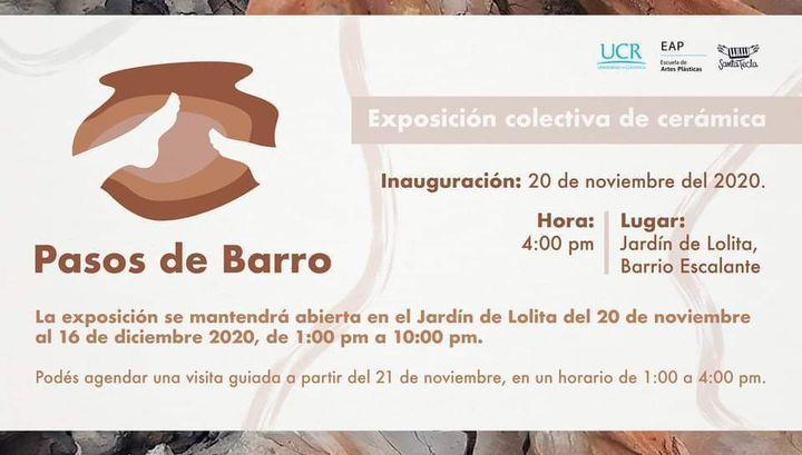 'Pasos de Barro' Exposición Colectiva de Cerámica.