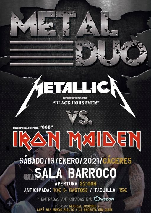 Metal Dúo – Metallica Vs Iron Maiden