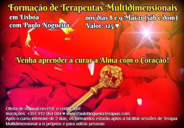 Curso de Terapia Multidimensional em Lisboa em Mai'21