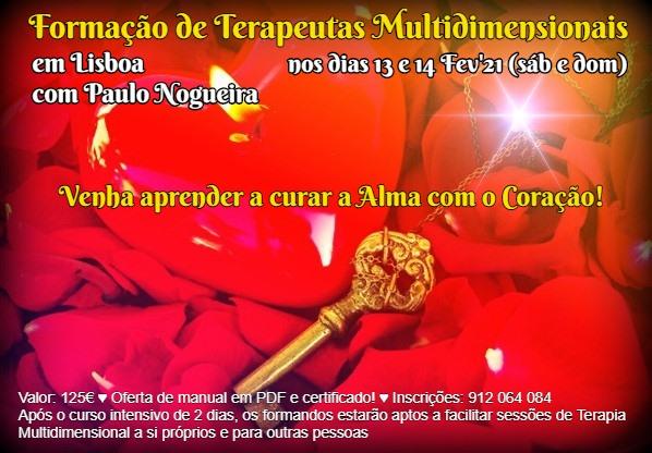 Curso de Terapia Multidimensional em Lisboa em Fev'21