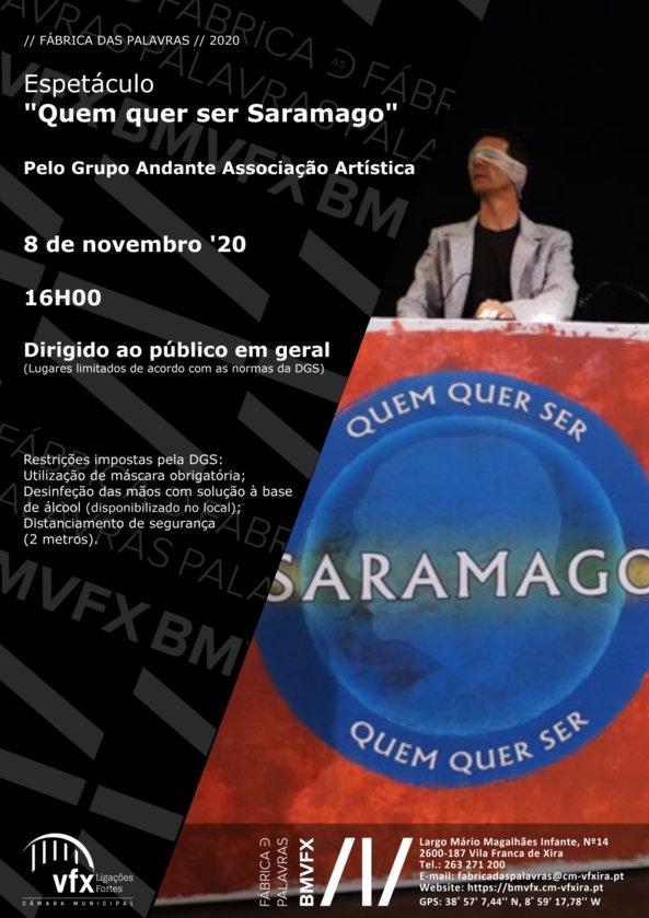 Teatro 'Quem quer ser Saramago'