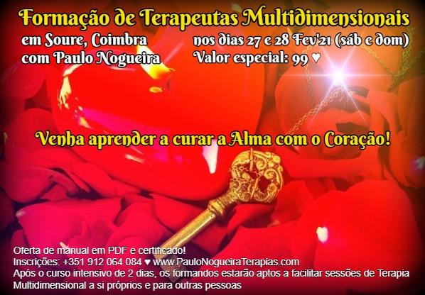 Curso de Terapia Multidimensional em Coimbra em Fev'21 - 99 eur