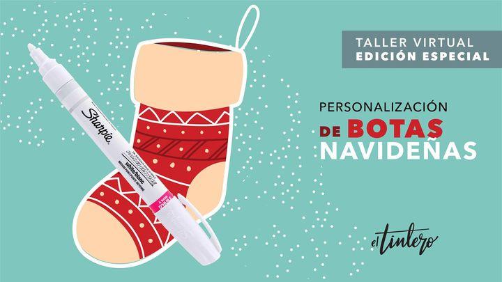Taller personalización de botas navideñas