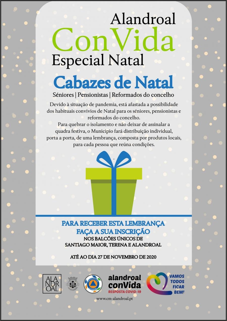 Alandroal ConVida - Especial Natal - Cabazes de Natal - Séniores, Pensionistas e Reformados do Concelho