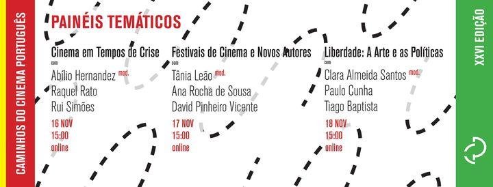 Painel 'Cinema em Tempos de Crise'   Rui Simões & Raquel Rato (Moderação de Abílio Hernandez)