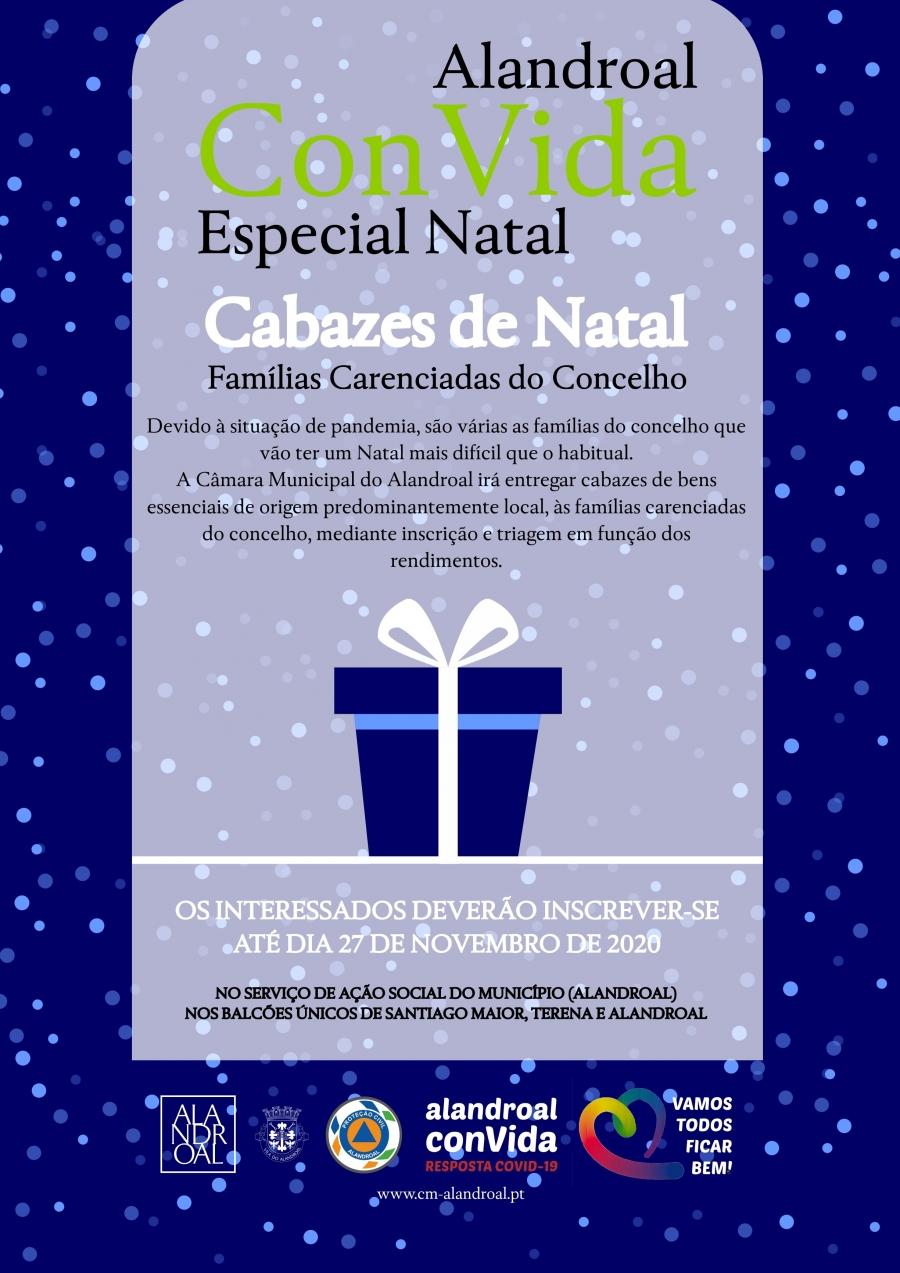 Alandroal ConVida - Especial Natal - Cabazes de Natal - Famílias Carenciadas do Concelho