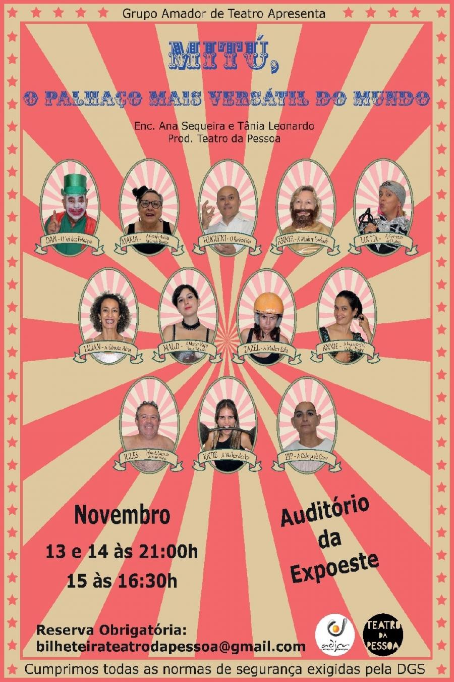 'MITÚ, O PALHAÇO MAIS VERSÁTIL DO MUNDO' - Grupo Amador de Teatro