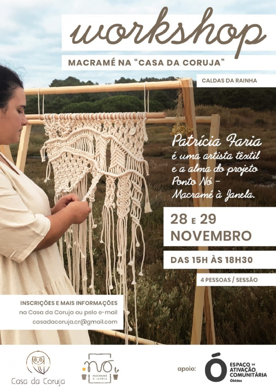 Workshop Macrame, por Patrícia Faria