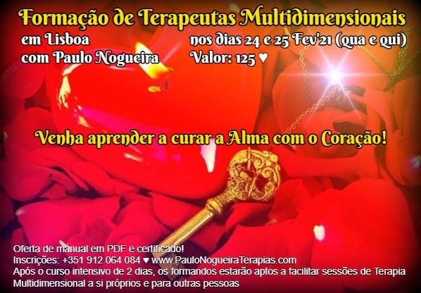 Curso de Terapia Multidimensional em Lisboa em Fev'21 à semana