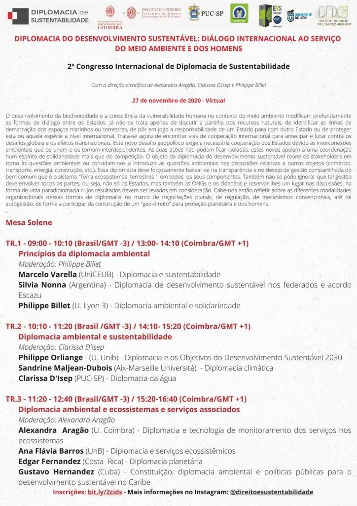 2.º Congresso Internacional de Diplomacia de Sustentabilidade