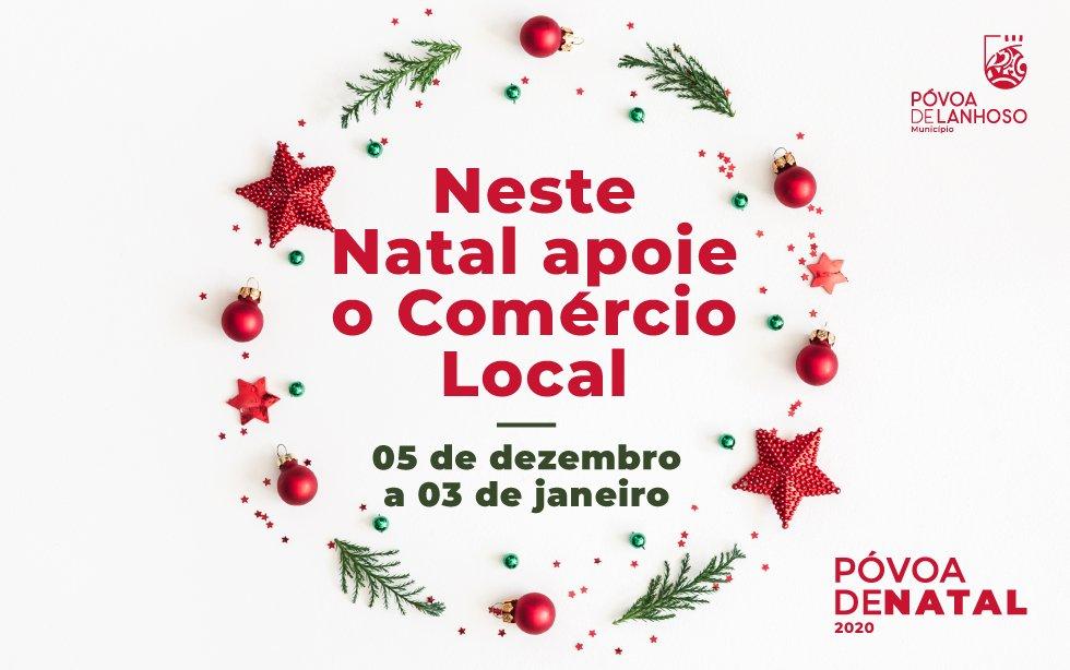 """Sorteio """"Póvoa de Natal"""" – Campanha de apoio ao Comércio Local"""