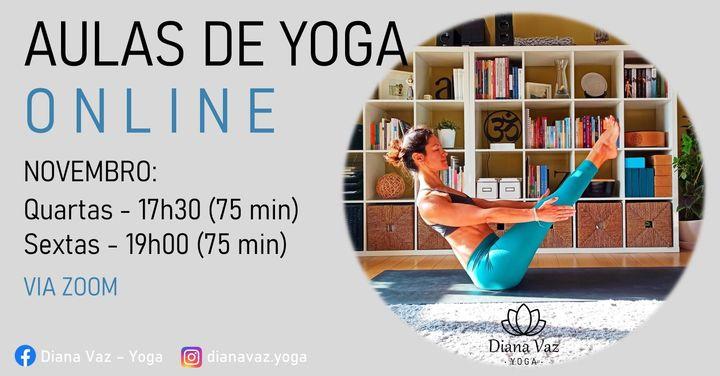 Aulas de Yoga Online - mês de novembro