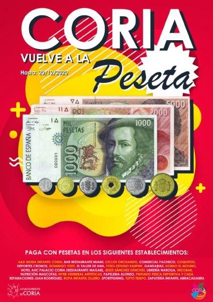 Coria vuelve a la peseta
