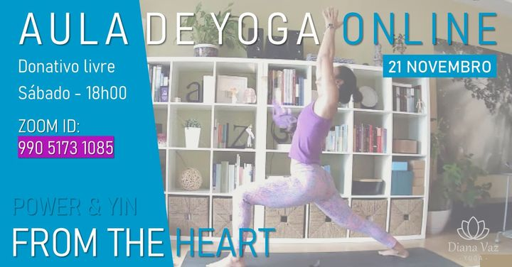 AULA DE YOGA - FROM THE HEART (POWER & YIN)