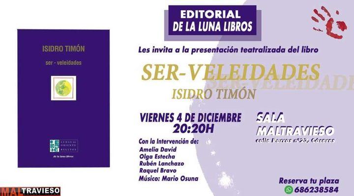Presentación libro SER_VELEIDADES de Isidro Timón