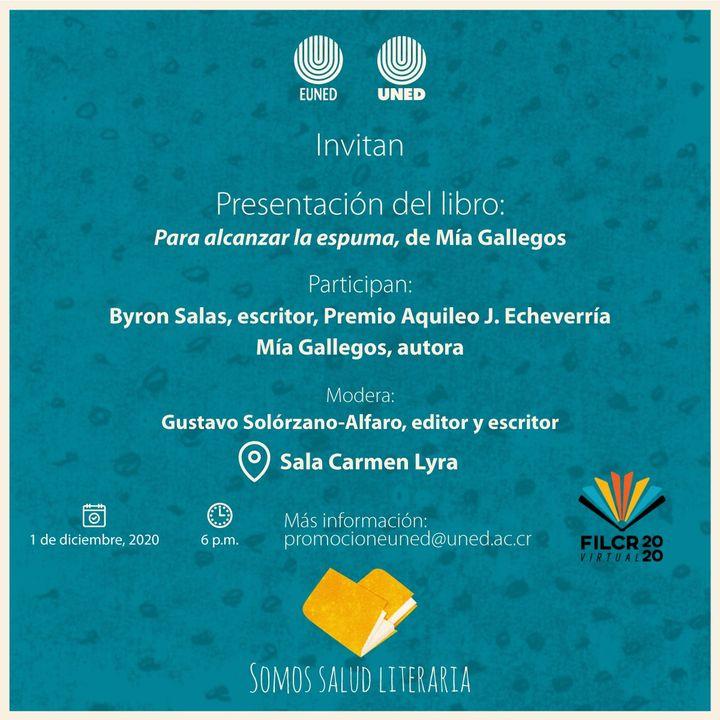 FERIA INTERNACIONAL DEL LIBRO. Presentación de 'Para alcanzar la espuma', de Mía Gallegos