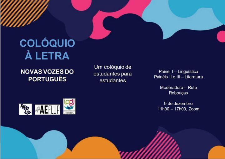 Colóquio À Letra - Novas Vozes do Português